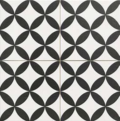 Circle Black 45x45, retro obklad a dlažba(CIRCBL45X45)