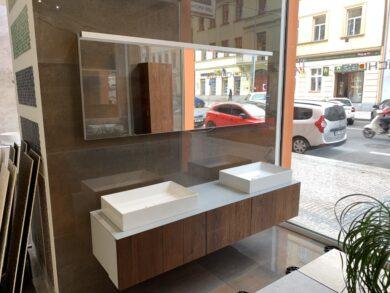 Nábytková sestava New York vč. umyvadla, zrcadla a vysoké skříňky(NEWYORK-EF)