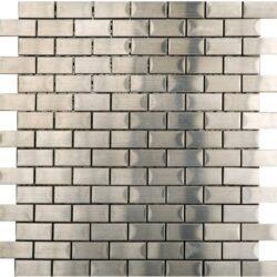 Mosaico Brick Acero 30,5x30,5