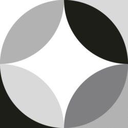 Circular Black & White 20x20