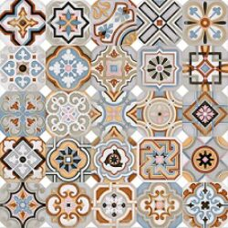 Octogono Musichalls Multicolor 20x20-oktogony 20x20, v balení náhodný mix různých vzorů, součástí balení nejsou rohové kostičky Taco Dome - nutno doobjednat samostatně - možnost volby jejich barevného provedení