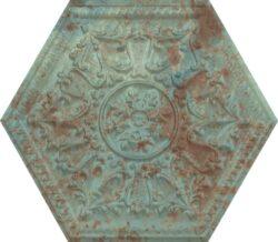 Zinc Green Mix Decor hexagon 25x29-v balení náhodný mix dekorů