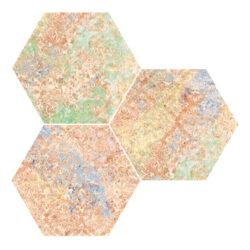 Emotion Red Natural Hexagon 25x29-v balení náhodný mix dekorů
