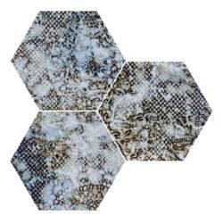 Inedita Blue Nat. Hexagon 25x29-v balení náhodný mix dekorů