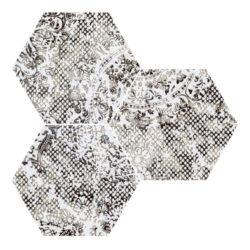 Inedita White Nat. Hexagon 25x29-v balení náhodný mix dekorů