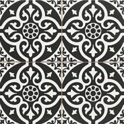 Chester Black 45x45, retro obklad a dlažba-!!! Nyní akční cena  499,- Kč/m2 !!!   Matná mrazuvzdorná retro dlažba a obklad série Victorian style & Patchwork, formát 45x45