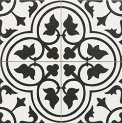 Dover Black 45x45, retro obklad a dlažba-!!! Nyní akční cena  499,- Kč/m2 !!!   Matná mrazuvzdorná retro dlažba a obklad série Victorian style & Patchwork, formát 45x45style & Patchwork, formát 45x45