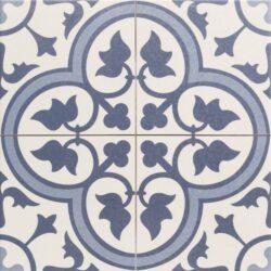 Dover Blue 45x45, retro obklad a dlažba-!!! Nyní akční cena  499,- Kč/m2 !!!   Matná mrazuvzdorná retro dlažba a obklad série Victorian style & Patchwork, formát 45x45