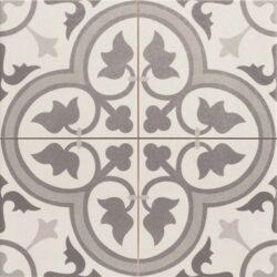 Dover Grey 45x45, retro obklad a dlažba-!!! Nyní akční cena  499,- Kč/m2 !!!   Matná mrazuvzdorná retro dlažba a obklad série Victorian style & Patchwork, formát 45x45