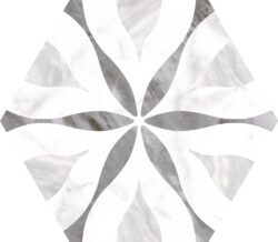 Bardiglio Hexagon Flower 20x17,5