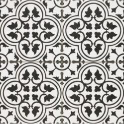 Hampton Black 45x45, retro obklad a dlažba-!!! Nyní akční cena  499,- Kč/m2 !!!   Matná mrazuvzdorná retro dlažba a obklad série Victorian style & Patchwork, formát 45x45