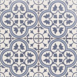 Hampton Blue 45x45, retro obklad a dlažba-!!! Nyní akční cena  499,- Kč/m2 !!!   Matná mrazuvzdorná retro dlažba a obklad série Victorian style & Patchwork, formát 45x45