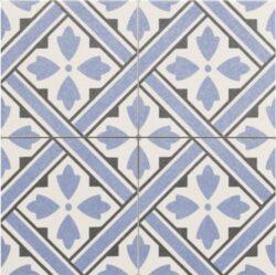 Howard Blue 45x45, retro obklad a dlažba-!!! Nyní akční cena  499,- Kč/m2 !!!   Matná mrazuvzdorná retro dlažba a obklad série Victorian style & Patchwork, formát 45x45